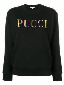 Emilio Pucci Logo Print Jersey Sweatshirt - Black