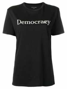 6397 democrazy print T-shirt - Black