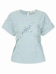 Sea Riviera striped corset T-shirt - White