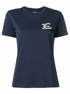 Ermanno Ermanno 'E' embroidered T-shirt - Blue