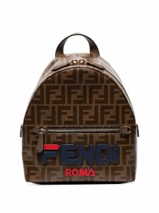 Fendi light brown FendiMania mini backpack - Neutrals