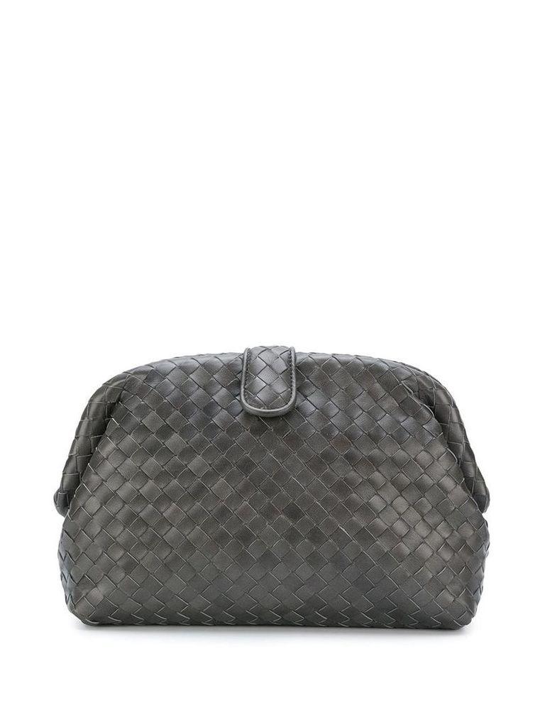 Bottega Veneta woven effect clutch - Grey