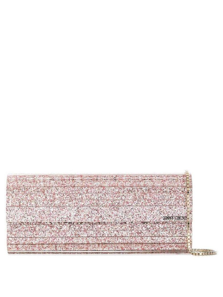 Jimmy Choo Sweetie glittered clutch - Pink