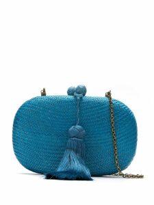 Serpui straw clutch - Blue