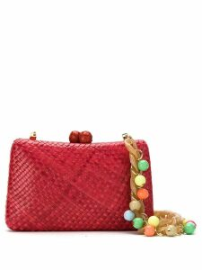 Serpui straw clutch - Red