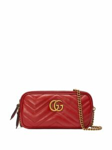 Gucci GG Marmont mini chain bag - Red