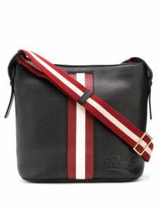 Bally contrasting panel shoulder bag - Black
