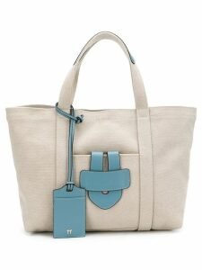 Tila March small leather trim tote - Neutrals