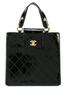 Chanel Pre-Owned top handle tote bag - Black
