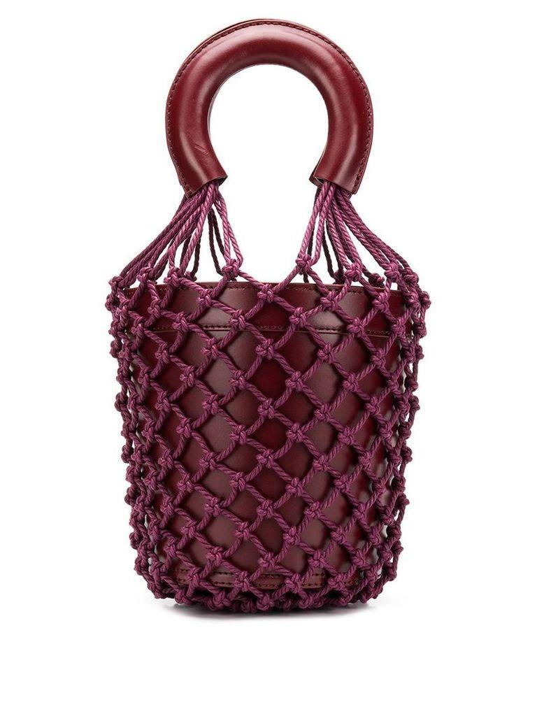 Staud net-layered bucket bag - Purple