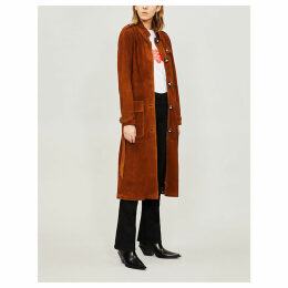 Larsen suede trench coat