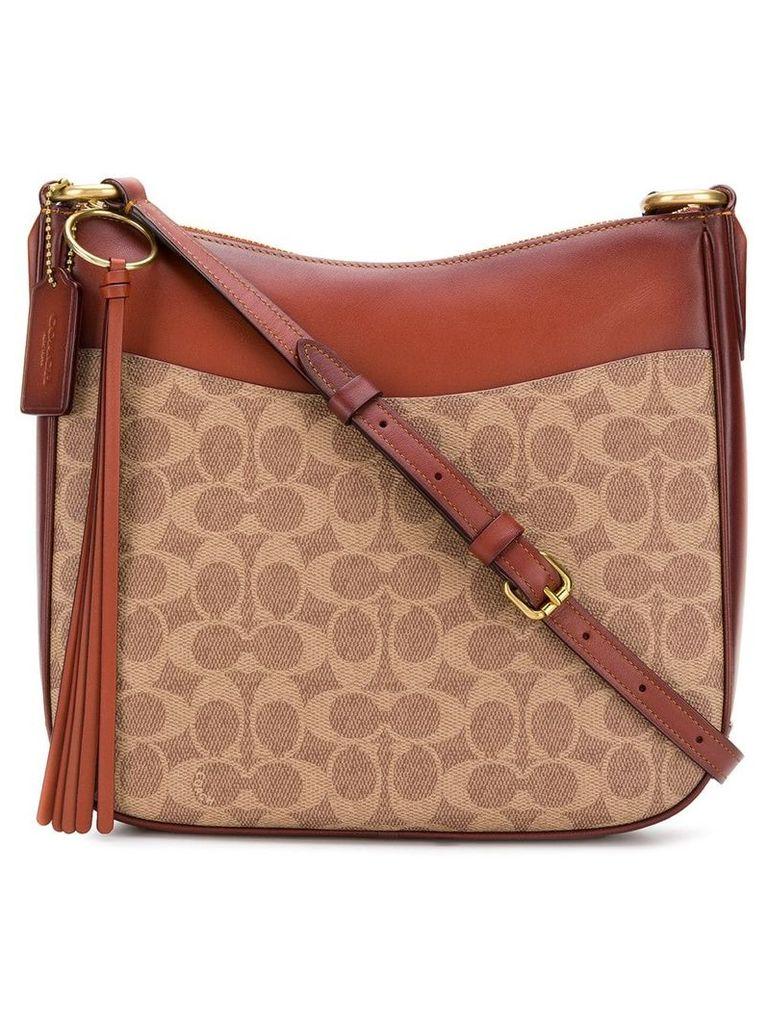 Coach signature logo chaise bag - Brown