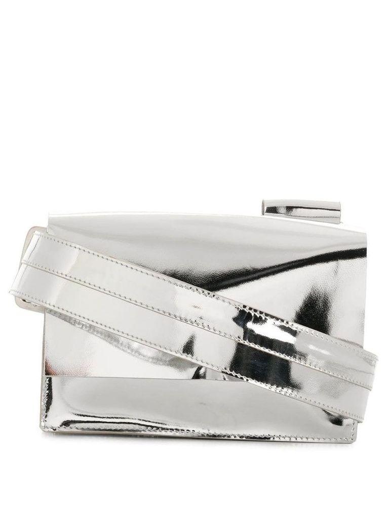 Manokhi metallic belt bag - Silver