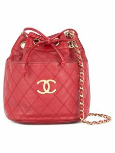 Chanel Pre-Owned Chanel Cosmos quilted CC chain shoulder bag - Red