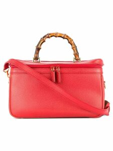 Gucci Pre-Owned Bamboo Line 2way cosmetic vanity hang bag - Red