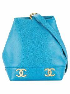 Chanel Pre-Owned CC logos shoulder bag - Blue