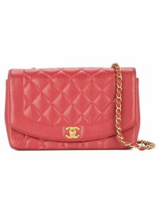 Chanel Pre-Owned Diana quilted shoulder bag - Red