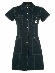 Fendi Pre-Owned short sleeve one-piece dress - Blue