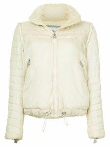Chanel Pre-Owned Chanel removable sleeve jacket - White