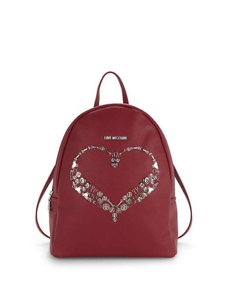 Embellished Heart Backpack