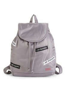 Patch Drawstring Backpack