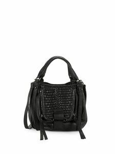 Basket Woven Leather Satchel