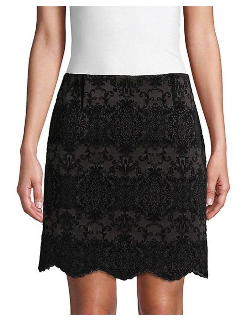 Graphic Flocked Skirt