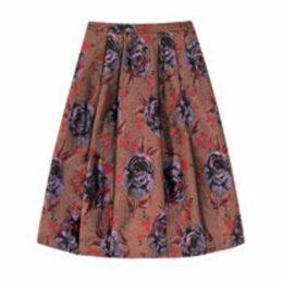 Jacquard Rose Jacquard Skirt