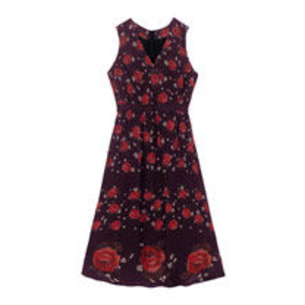Jacquard Rose Viscose Dress
