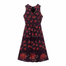 Jacquard Rose Viscose Dress