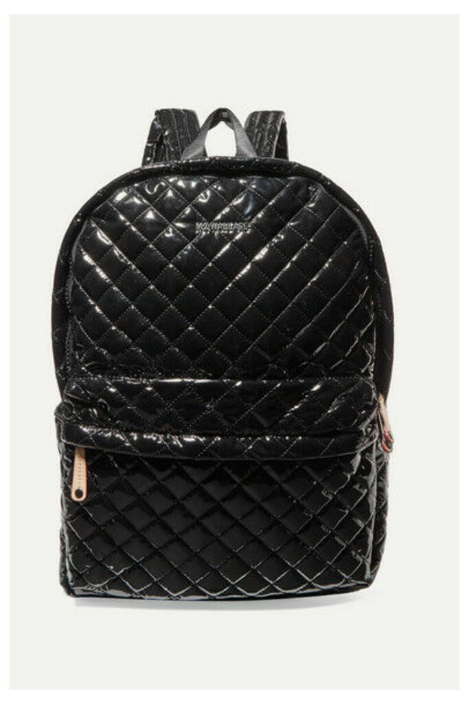 MZ Wallace - Metro Leather-trimmed Quilted Vinyl Backpack - Black