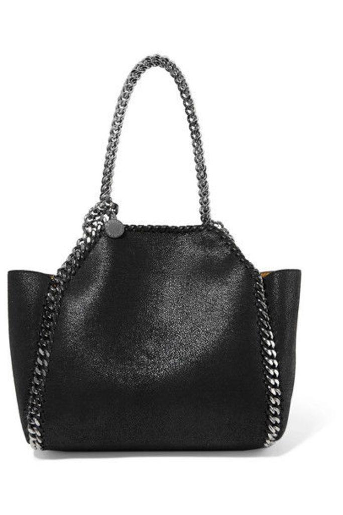 Stella McCartney - The Falabella Mini Reversible Faux Brushed-leather Tote - Black