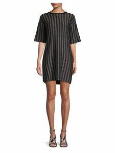 Sparkling Striped T-Shirt Dress