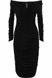 Norma Kamali - Tara Convertible Ruched Stretch-jersey Dress - Black