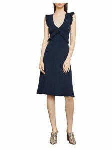Ruffle-Trimmed A-Line Dress