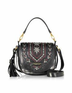 The Bridge Designer Handbags, Fiesole Embroidered Leather Shoulder Bag