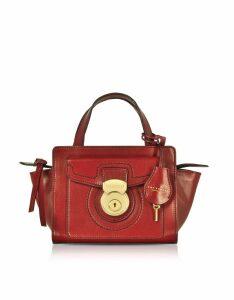 The Bridge Designer Handbags, Rufina Small Leather Satchel Bag