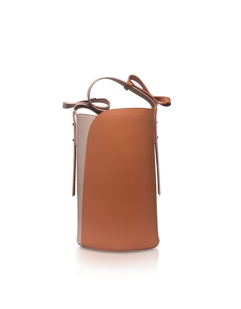 Delpozo Designer Handbags, Color Block Leather Cactus Bag