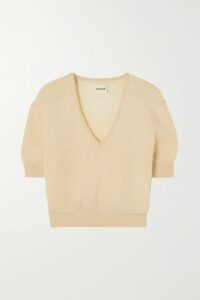 GANNI - Pinstriped Stretch-cady Blazer - Light gray