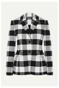 Altuzarra - Fenice Gingham Wool-blend Twill Blazer - Black