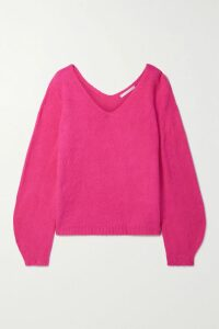Vince - Collarless Silk-satin Blouse - Pastel pink