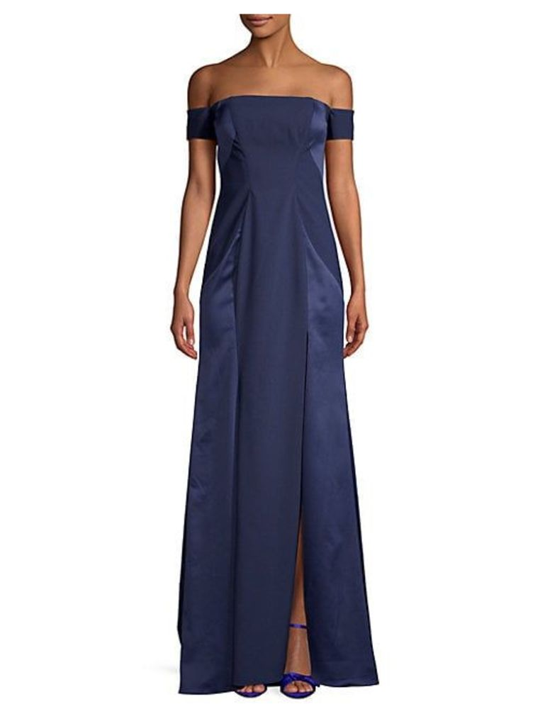 Satin Off-The-Shoulder Gown