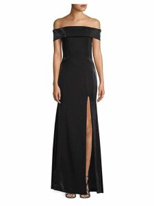 Ross Off-The-Shoulder Slit Gown