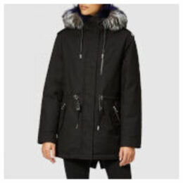Mackage Women's Chara Twill Parka - Black/Blue