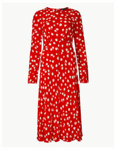 M&S Collection Floral Print Midi Dress