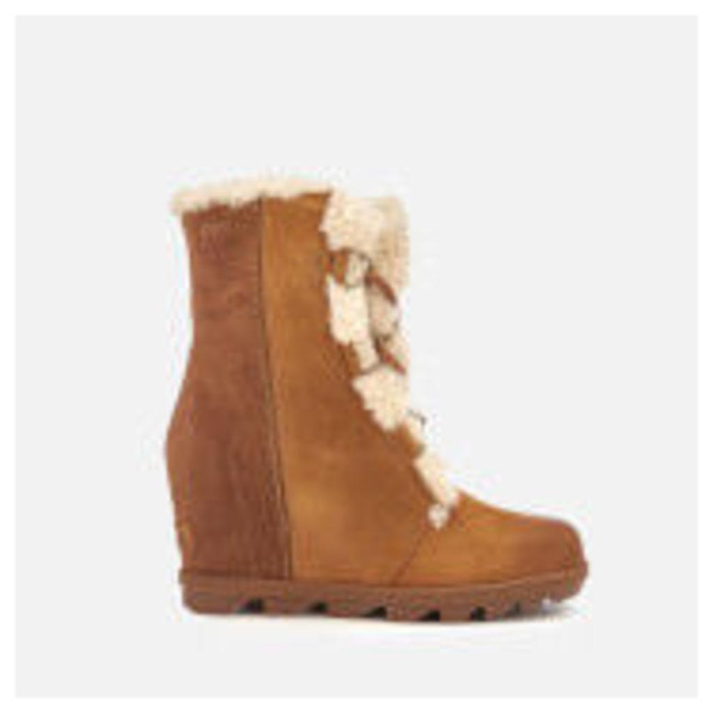 Sorel Women's Joan of Arctic II Shearling Wedged Boots - Camel Brown