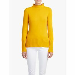 French Connection Mock Neck Jumper, Calluna Yellow