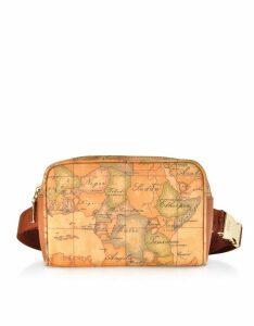 Alviero Martini 1A Classe Designer Handbags, Geo Classic Coated Canvas Belt Bag