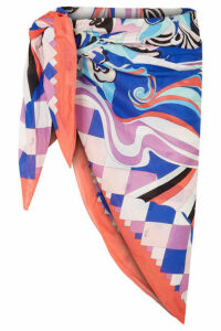Emilio Pucci - Printed Cotton-voile Pareo - Blue