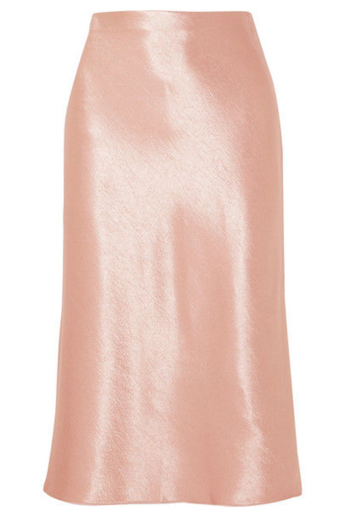 Vince - Hammered-satin Skirt - Blush